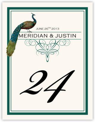 Peacock Flourish Monogram
