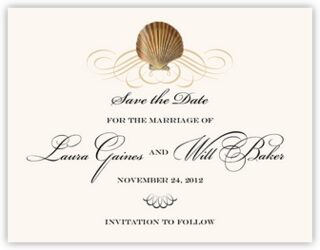 Seashell Scallop Swirl Save the Dates