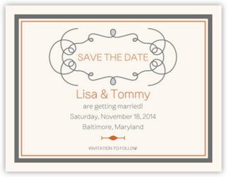 Brownstone Monogram 15 Save the Dates