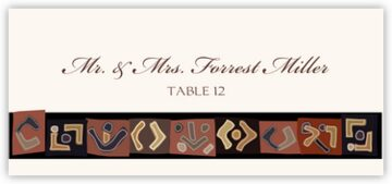 African Kuba Pattern 2 Place Cards