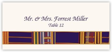 Asante Kente Place Cards