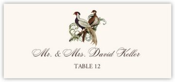 Asian Peace Birds Place Cards