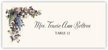 Blue and Green Grapes Place Cards