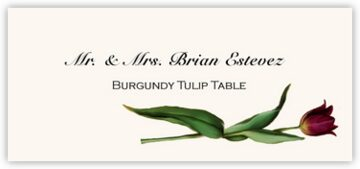 Burgundy Tulip Place Cards