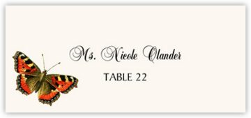 Butterfly Assortment Place Cards