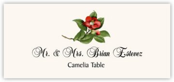 Camellia 01 Place Cards