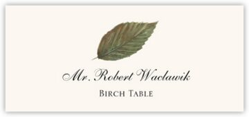 Birch Colorful Leaf Place Cards