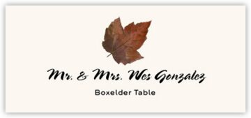 Boxelder Colorful Leaf Place Cards