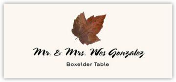 Boxelder Colorful Leaf Place Cards