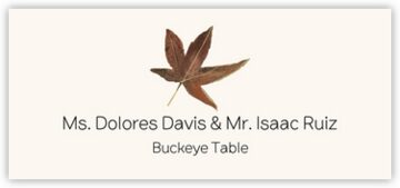 Buckeye Colorful Leaf Place Cards
