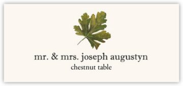 Chestnut Colorful Leaf Place Cards
