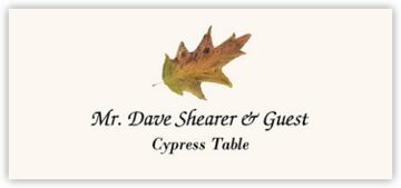 Cypress Colorful Leaf Place Cards
