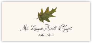 Oak Colorful Leaf Place Cards