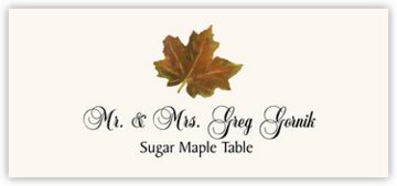 Sugar Maple Colorful Leaf Place Cards