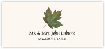 Sycamore Colorful Leaf Place Cards