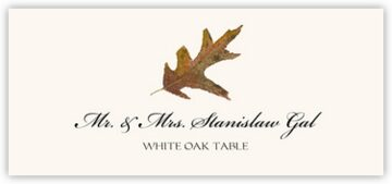 White Oak Colorful Leaf Place Cards
