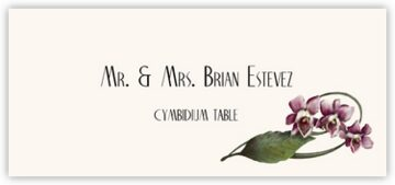 Cymbidium Place Cards