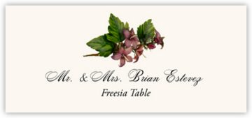 Freesia Place Cards
