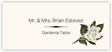 Gardenia Place Cards
