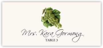 Green Grapes Place Cards