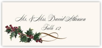 Holly Swirl Place Cards