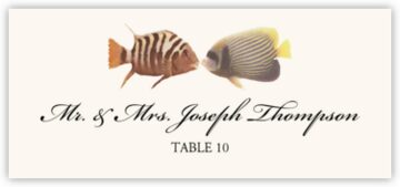 Kissing Fish Place Cards