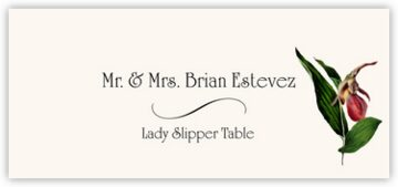 Lady Slipper Place Cards