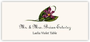 Laelia Violet Place Cards