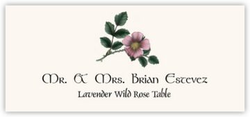 Lavender Wild Rose Place Cards