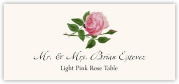 Light Pink Rose Place Cards