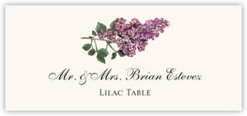 Lilac Place Cards