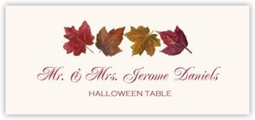 Maple Leaf Pattern Place Cards