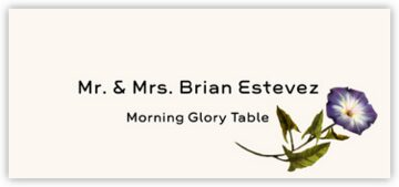 Morning Glory Place Cards