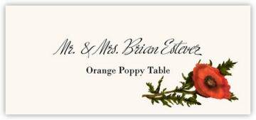 Orange Poppy Place Cards