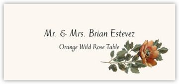 Orange Wild Rose Place Cards