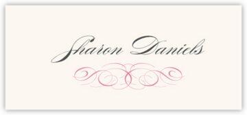 Ornate Line Flourish 0510 Place Cards
