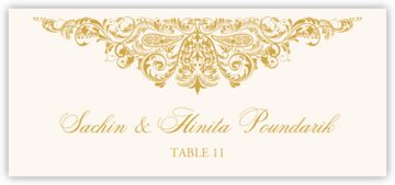 Paisley Power Place Cards