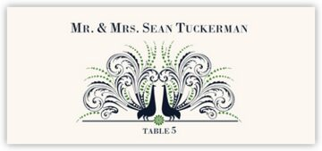 Passionate Peacock Place Cards