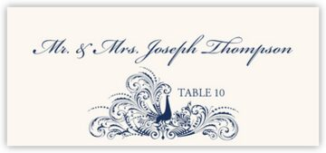 Peacock Flourish Place Cards