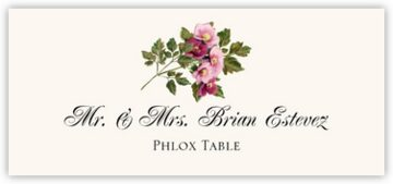 Phlox Place Cards