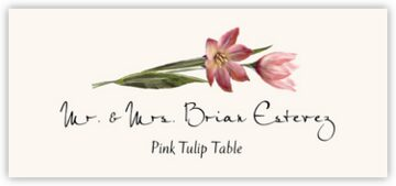 Pink Tulip Place Cards