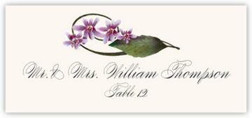 Purple Calypso Orchid Place Cards
