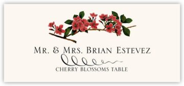 Cherry Blossoms Place Cards