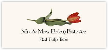 Red Tulip Place Cards