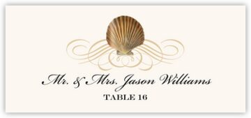 Seashell Flourish 03 Place Cards