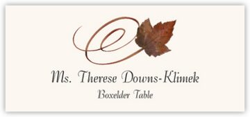 Boxelder Swirly Leaf Place Cards