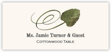 Cottonwood Swirly Leaf Place Cards