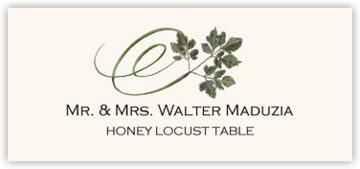 Honey Locust Swirly Leaf Place Cards
