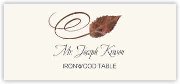 Ironwood Swirly Leaf Place Cards