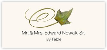 Ivy Swirly Leaf Place Cards